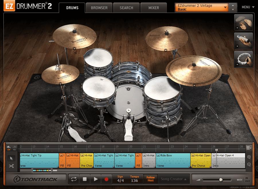Toontrack EZdrummer 2 v2.1.8 Build 21073 Full version