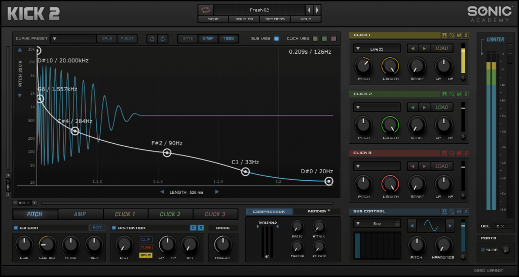 Sonic Academy KICK 2 drum synth updated to v1.03