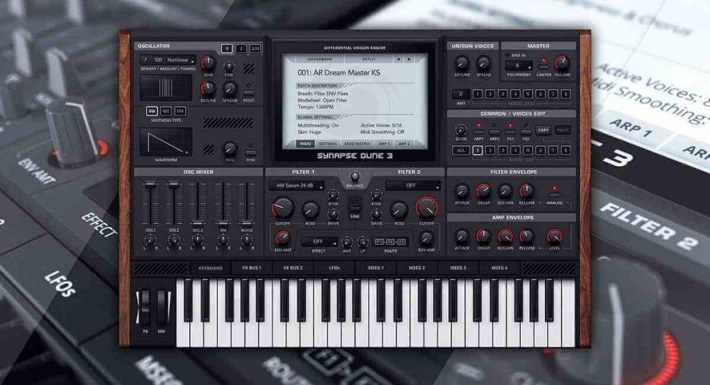 Synapse Audio DUNE 3 Free Download - VST