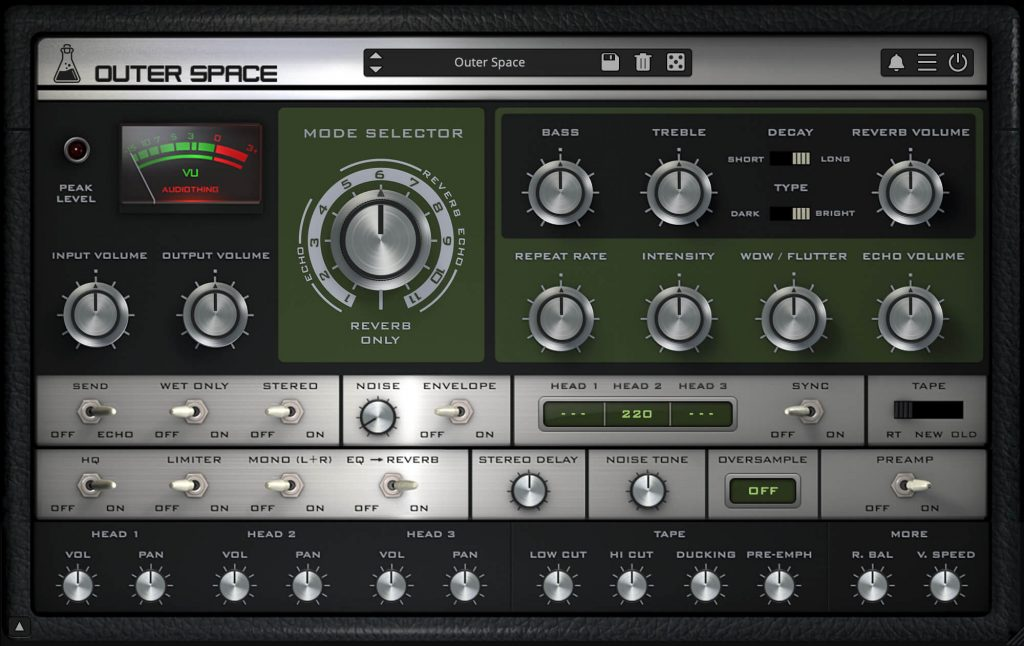 Outer Space - Vintage Tape Echo Plugin (VST, AU, AAX) - AudioThing
