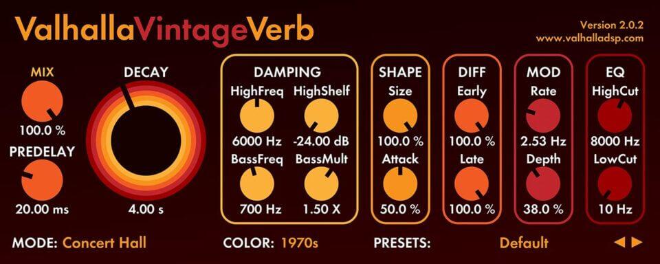 Valhalla VintageVerb: Vintage Reverb Plugin | Valhalla DSP Plugin