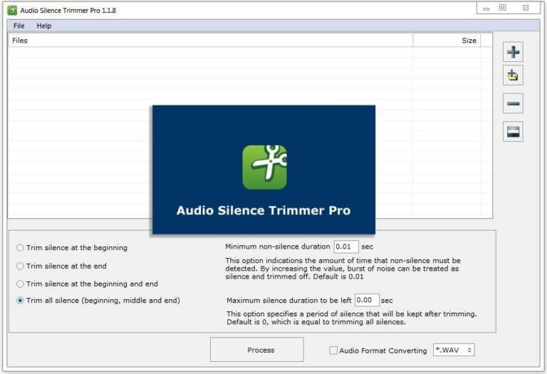 Audio Silence Trimmer Pro 1.1.8 Free Download | Audio, User interface, Silence