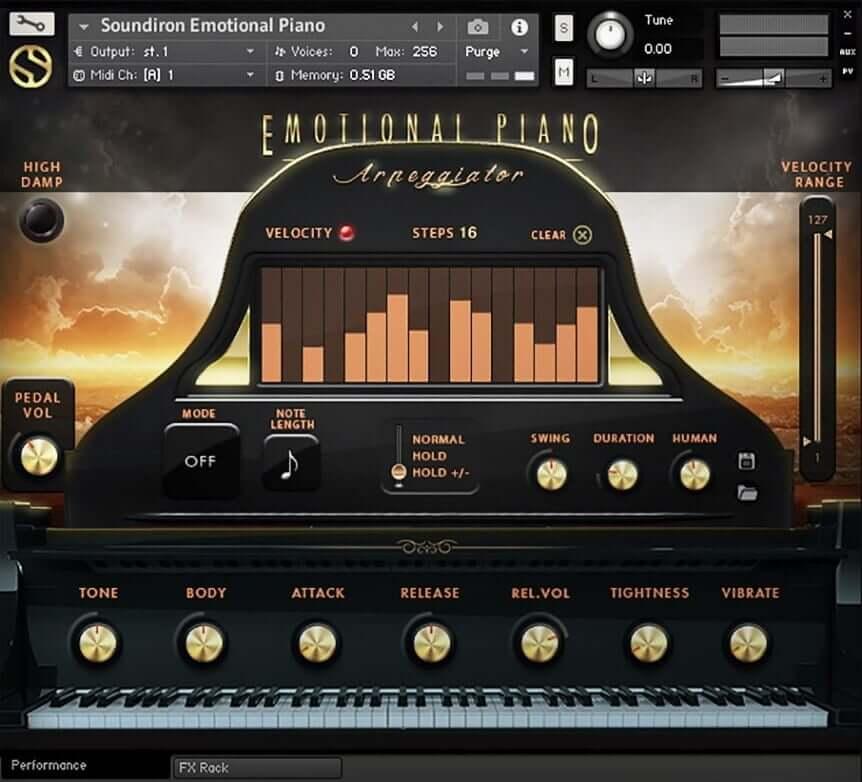 Soundiron Emotional Piano - cinematic grand piano for Kontakt Player
