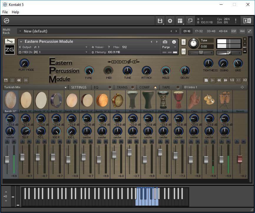 Zero-G – Eastern Percussion Module (KONTAKT) crack